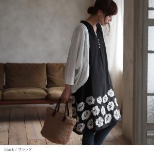掘り出しバザール 華やかだけどやさしい、北欧風の花刺繍ワンピース レディース ノースリーブ コットン 綿 フレア Aライン 花柄/お客様都合での返品交換不可|soulberry|11