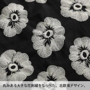掘り出しバザール 華やかだけどやさしい、北欧風の花刺繍ワンピース レディース ノースリーブ コットン 綿 フレア Aライン 花柄/お客様都合での返品交換不可|soulberry|15