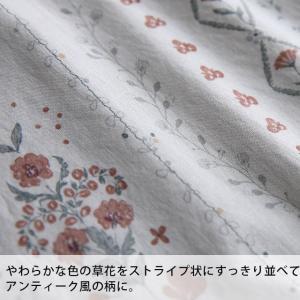 アンティーク風の花を咲かせた2WAYワンピース レディース 半袖 5分袖 五分袖 コットン 綿 花柄 フラワー Vネック フレア Aライン ロング soulberryオリジナル soulberry 12