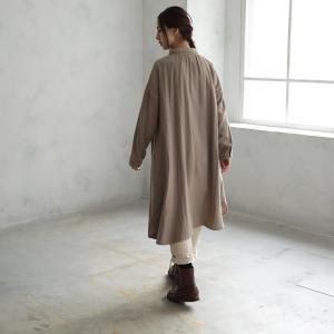 甘くならないダブルガーゼのシャツワンピース レディース 羽織り 長袖 ロング 綿 コットン|soulberry|11