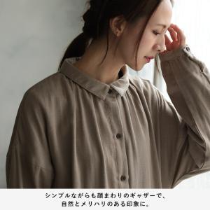 甘くならないダブルガーゼのシャツワンピース レディース 羽織り 長袖 ロング 綿 コットン|soulberry|12