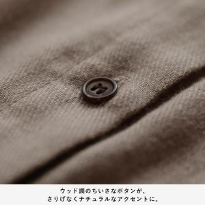 甘くならないダブルガーゼのシャツワンピース レディース 羽織り 長袖 ロング 綿 コットン|soulberry|13