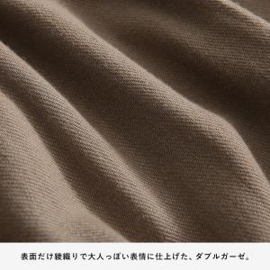 甘くならないダブルガーゼのシャツワンピース レディース 羽織り 長袖 ロング 綿 コットン|soulberry|14