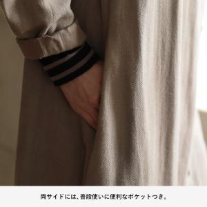 甘くならないダブルガーゼのシャツワンピース レディース 羽織り 長袖 ロング 綿 コットン|soulberry|16