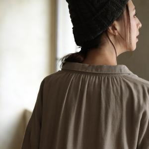 甘くならないダブルガーゼのシャツワンピース レディース 羽織り 長袖 ロング 綿 コットン|soulberry|18