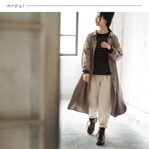 甘くならないダブルガーゼのシャツワンピース レディース 羽織り 長袖 ロング 綿 コットン|soulberry|05