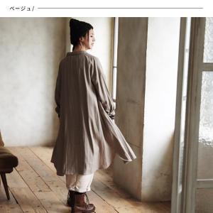 甘くならないダブルガーゼのシャツワンピース レディース 羽織り 長袖 ロング 綿 コットン|soulberry|07