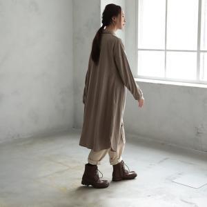 甘くならないダブルガーゼのシャツワンピース レディース 羽織り 長袖 ロング 綿 コットン|soulberry|10