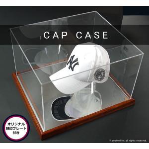 帽子コレクションケース・木製/UVカット+オリジナルプレート付|soulbird