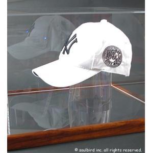 帽子コレクションケース・木製/UVカット+オリジナルプレート付|soulbird|02