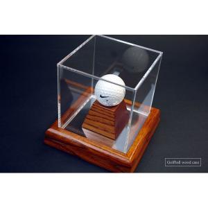 ゴルフボールコレクションケース・木製/UVカット soulbird