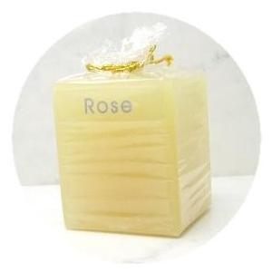 ローズ【CUTE*CUBE☆キャンドル】置くだけでとにかくキュート!☆濃密な香りのアロマキャンドルauroshikha オウロシカ正規輸入|soulmate-lotus
