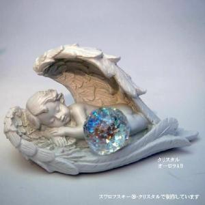 スイートドリーム天使 30mm 幸運を運ぶ天使サンキャッチャー 風水 スワロフスキー〓クリスタル 特注オーロラABで制作 ギフトに最適 ソウルメイトロータス|soulmate-lotus