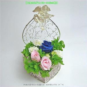 ブリザーブド フラワー スワロフスキー【母の日に】【天使の虹翼☆フロール(花の精)】ブリザーブド フラワー&MADE WITH SWAROVSKI&r|soulmate-lotus
