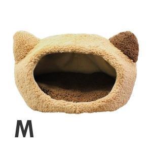 スーパーキャット ぬくふかハウス 猫型 M ベージュ あったか 多頭飼い|soulmate-lotus