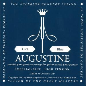 【ピック2枚付!】AUGUSTINE オーガスチン クラシックギター弦 インペリアル Blue|sound-depo
