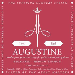 【ピック2枚付!】AUGUSTINE オーガスチン クラシックギター弦 リーガル Red|sound-depo