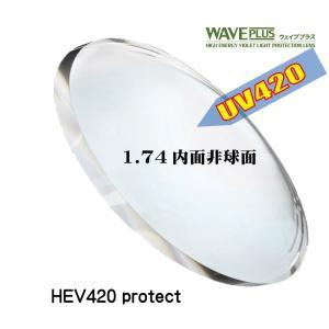 [メガネレンズ交換] ウェイブプラス1.74内面非球面 [HEV420 紫外線カット] 【2枚1組】 スーパーUVカット 紫外線対策 UV400 UV420 眼鏡レンズ|soundace