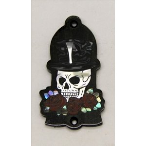 GuitarHeads / Truss Rod Cover with Skull, Hat & Roses Inlay Gibson 直輸入|soundmama-e