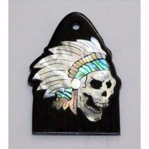 GuitarHeads / Truss Rod Cover w/Skull & Head Dress Inlay PRS 直輸入|soundmama-e