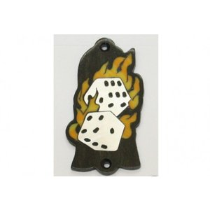 GuitarHeads / Truss Rod Cover with Flaming Dice Gibson 直輸入|soundmama-e