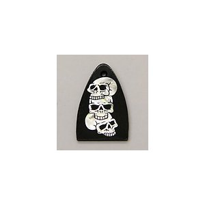 GuitarHeads / Truss Rod Cover with Triple Skull Inlay will fit PRS  直輸入|soundmama-e
