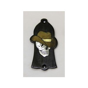 GuitarHeads / Truss Rod Cover with Skull with Cowboy Hat Inlay Gibson  直輸入|soundmama-e