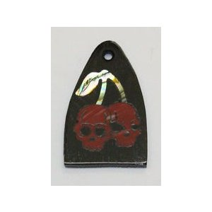 GuitarHeads / Truss Rod Cover with Cherry Skulls Inlay will fit PRS  直輸入|soundmama-e