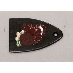 GuitarHeads / Truss Rod Cover with Heart and Rose Inlay will fit PRS 直輸入|soundmama-e