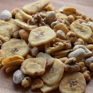 メープルミックスナッツ 200g カシューナッツ とうもろこし そら豆 アーモンド クルミ バナナ ネコポス配送 soupstore