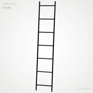HLR-008 ラダーラック 北新工業 hokushin industry アイアン(鉄製)家具 はしご型ラック 立て掛け式収納ラック 梯子型収納 日