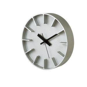 AZ-0116 WH/AL edge clock エッジ クロック タカタレムノス 掛け時計 takata lemnos 置き時計 安積朋子 デザイン Tomoko Azumi|souryou0interior