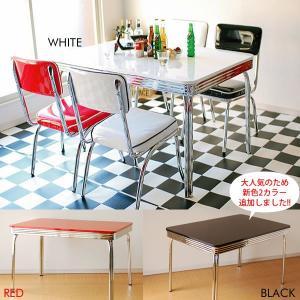 グロス 120ダイニングテーブル 50th 60th 50's 60's 50's 60's アメリカン レトロ BK/WH/RD|souryou0interior
