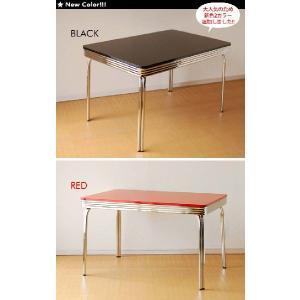 グロス 120ダイニングテーブル 50th 60th 50's 60's 50's 60's アメリカン レトロ BK/WH/RD|souryou0interior|02
