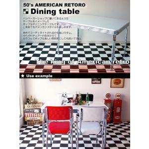 グロス 120ダイニングテーブル 50th 60th 50's 60's 50's 60's アメリカン レトロ BK/WH/RD|souryou0interior|03