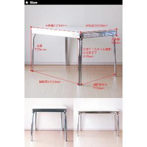グロス 120ダイニングテーブル 50th 60th 50's 60's 50's 60's アメリカン レトロ BK/WH/RD|souryou0interior|04