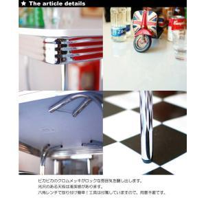 グロス 120ダイニングテーブル 50th 60th 50's 60's 50's 60's アメリカン レトロ BK/WH/RD|souryou0interior|05