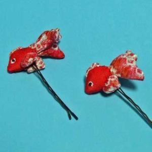 和風金魚髪留め(2個組)|sousakuzakka-koto