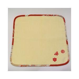 和刺繍タオルハンカチ 黄水仙|sousakuzakka-koto
