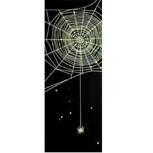 ポスト投函可能な 和柄 モダン 手ぬぐい 蜘蛛 祭り|sousakuzakka-koto