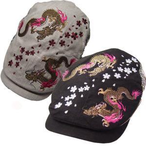 和柄帽子 メンズ ハンチング 和柄 双龍 sousakuzakka-koto