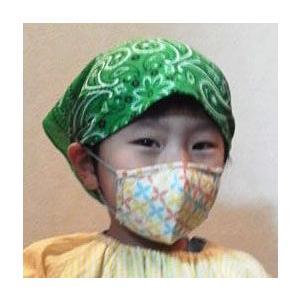 子供用 ガーゼマスク 和柄 【花粉予防対策】 蝶七宝 チロリアン うさぎ|sousakuzakka-koto