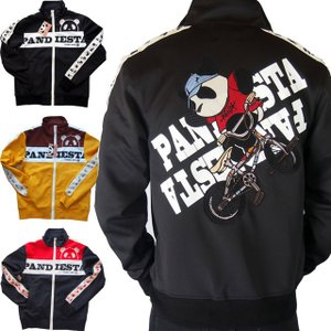PANDIESTA JAPAN パンダ ジャージ 上着 PDJ-BMXジャージ メンズ 黒/ネイビー/マスタード(ベージュ)黄色 539208|sousakuzakka-koto
