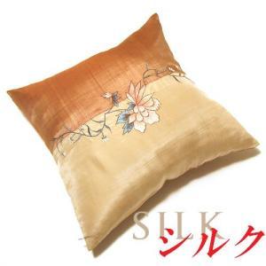 2枚以上で送料無料に シルククッションカバー フラワー  sousakuzakka-koto