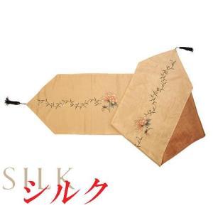 シルクテーブルランナー フラワー シノワ sousakuzakka-koto