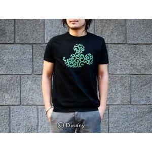 和柄tシャツ 半袖 Tシャツ むかしむかし メンズ Disney Collection 唐草文様|sousakuzakka-koto