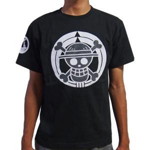 再入荷 和柄 半袖 tシャツ むかしむかし メンズ  家紋 麦わら海賊旗 和柄Tシャツ|sousakuzakka-koto