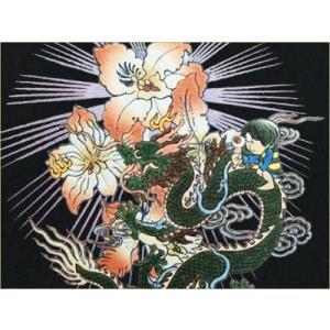 和柄Tシャツ むかしむかし 半袖 Tシャツ メンズ 鬼太郎 桜 ドラゴン|sousakuzakka-koto