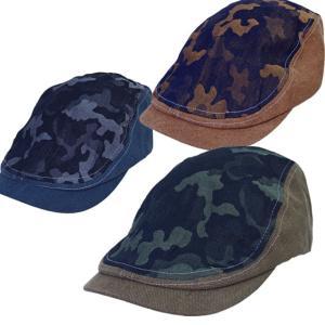 [帽子][ハンチング]カモフラキャンバスハンチング メンズ ハンチング ROCKA FLAME|sousakuzakka-koto