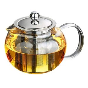 ガラス ティーポット 耐熱 耐冷 かわいい ずんぐり ホット コーヒー 紅茶 に 600mlの画像